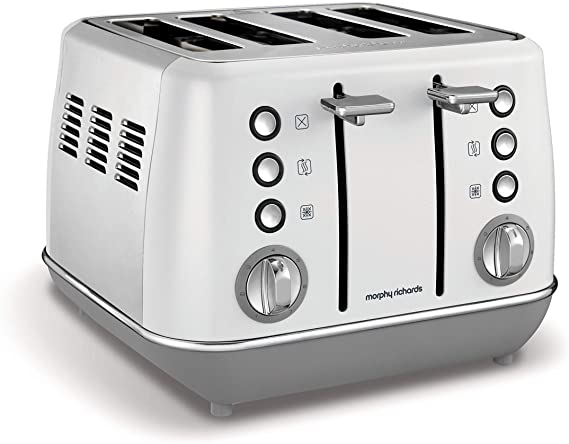 Morphy Richards Evoke 4 Slice Toaster - White | 240109