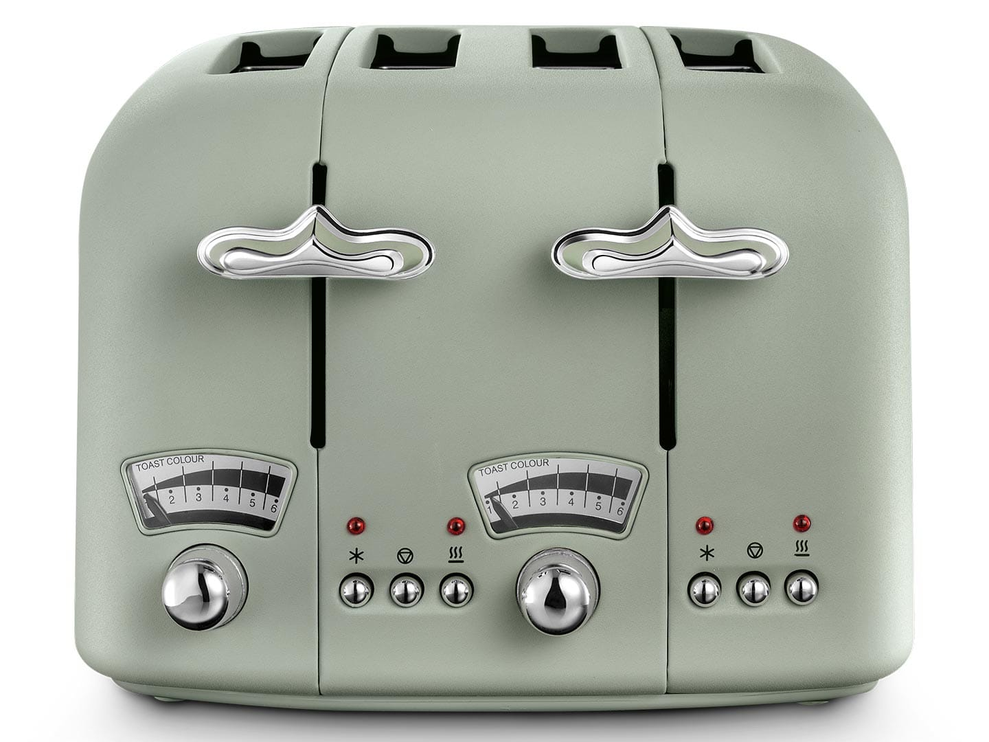 Delonghi Argento Green 4 Slice Toaster | CT04.GR