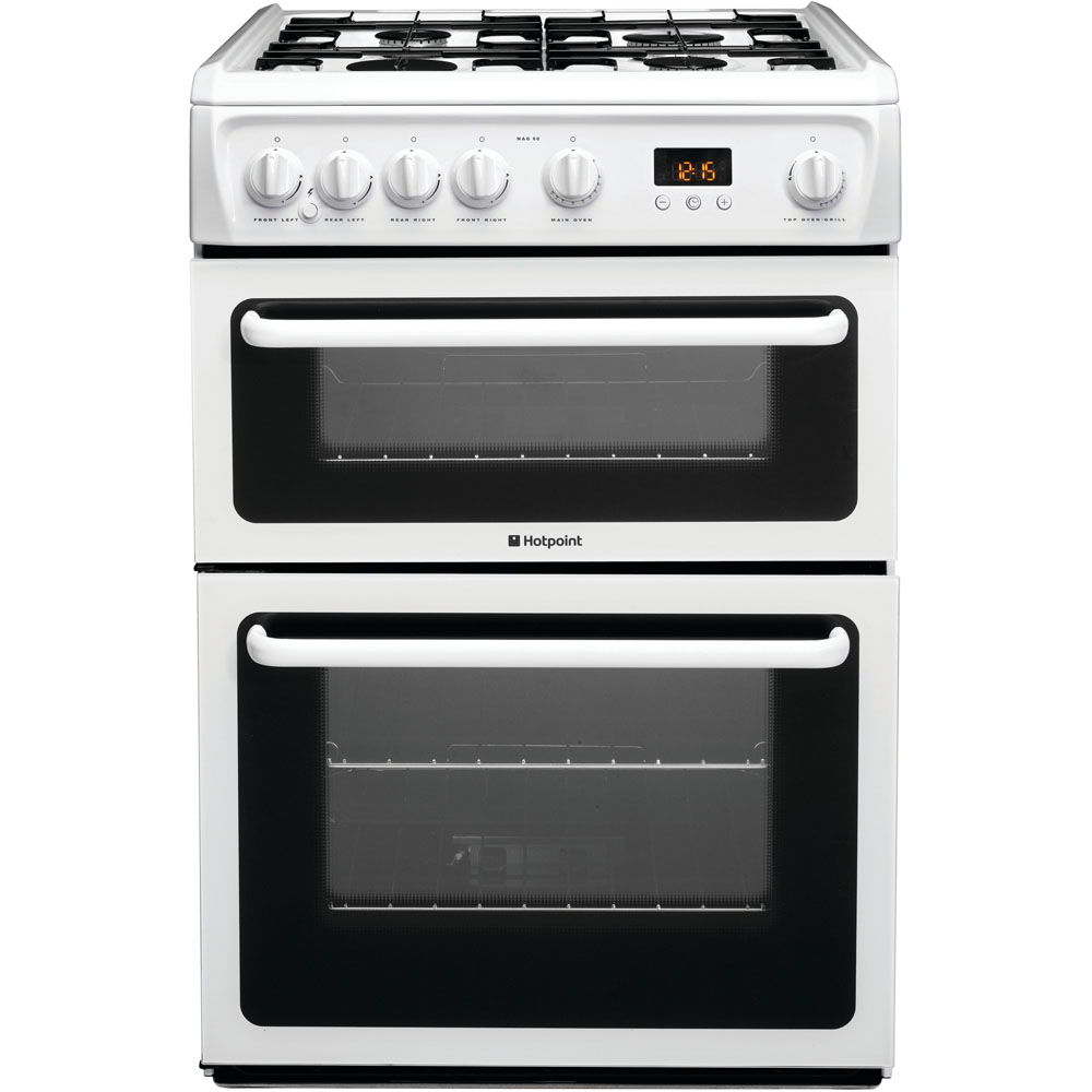 Hotpoint 60cm Gas Cooker White | HAG60P