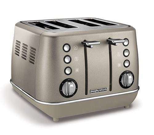 Morphy Richards Evoke 4 Slice Toaster - Platinum | 240103