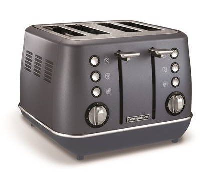 Morphy Richards Evoke 4 Slice Toaster - Steel Blue | 240102
