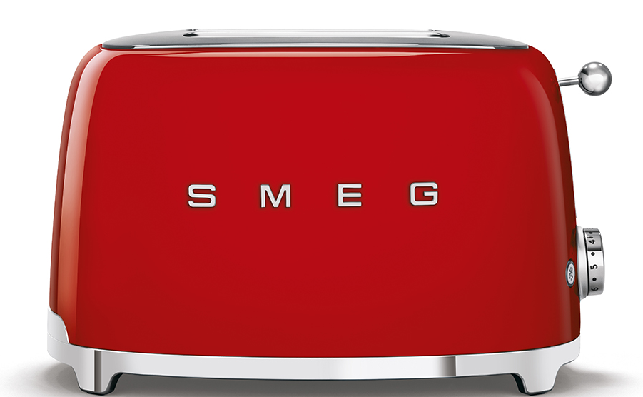 Smeg 50's Retro 2-Slice Toaster Red | TSF01RDUK