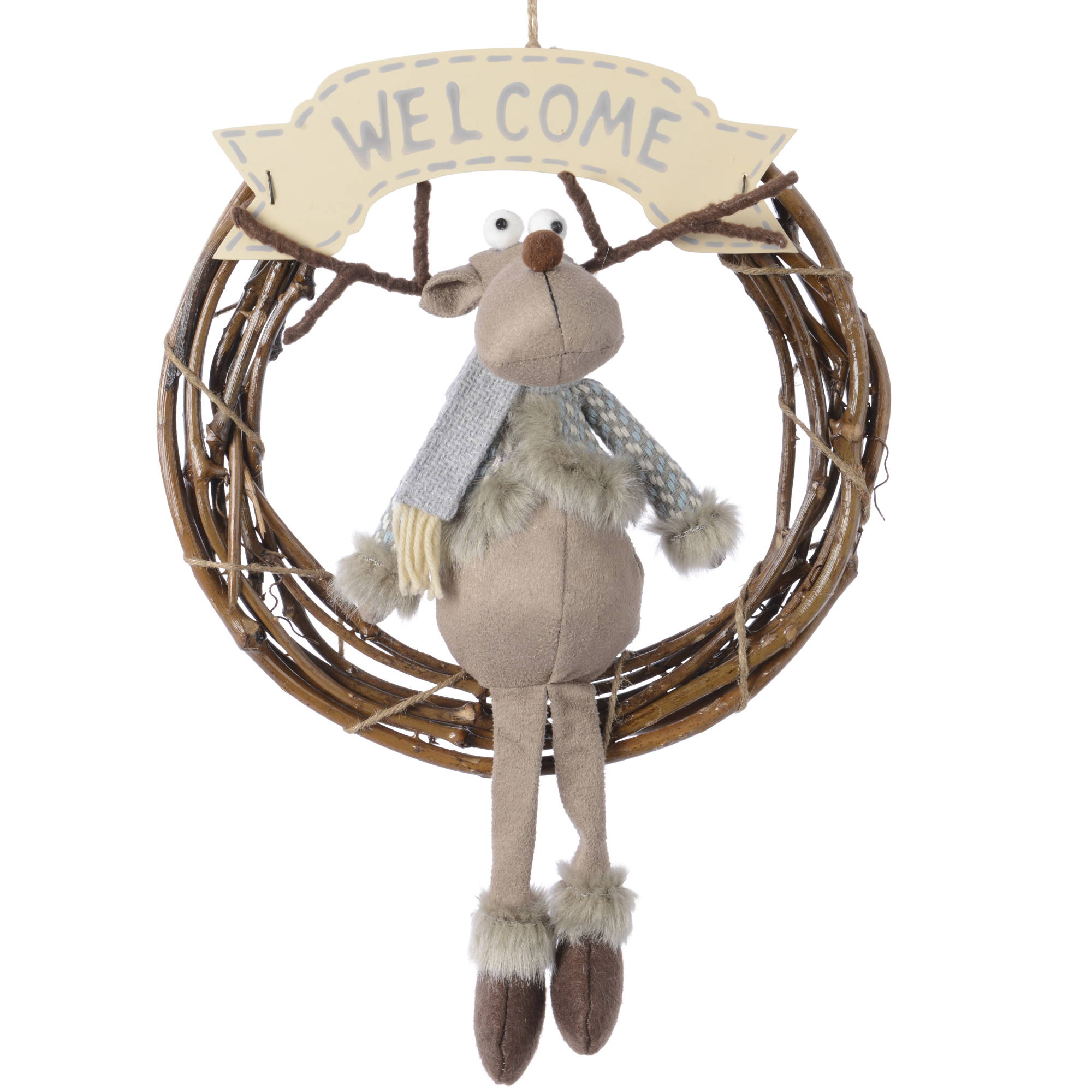 Hanging Reindeer Welcome Sign