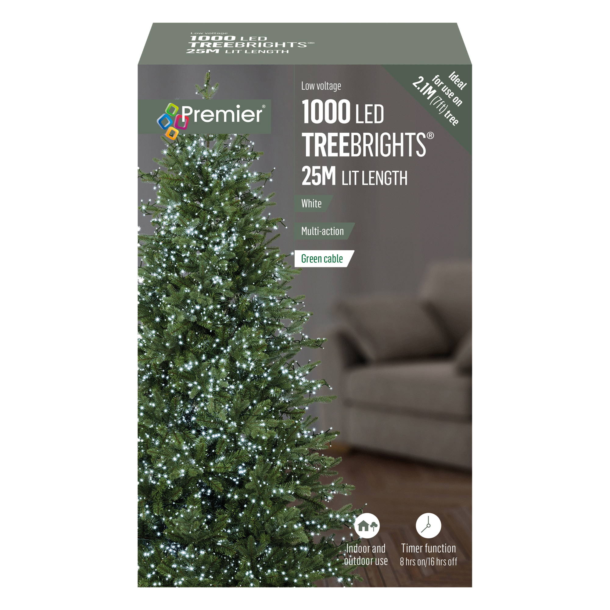 Premier 1000 LED Multi Action Treebrights With Timer White SKU 38642647 5053844154908