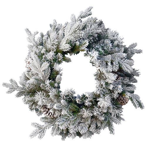 Snowy Dorchester Pine Christmas Wreath - 60cm