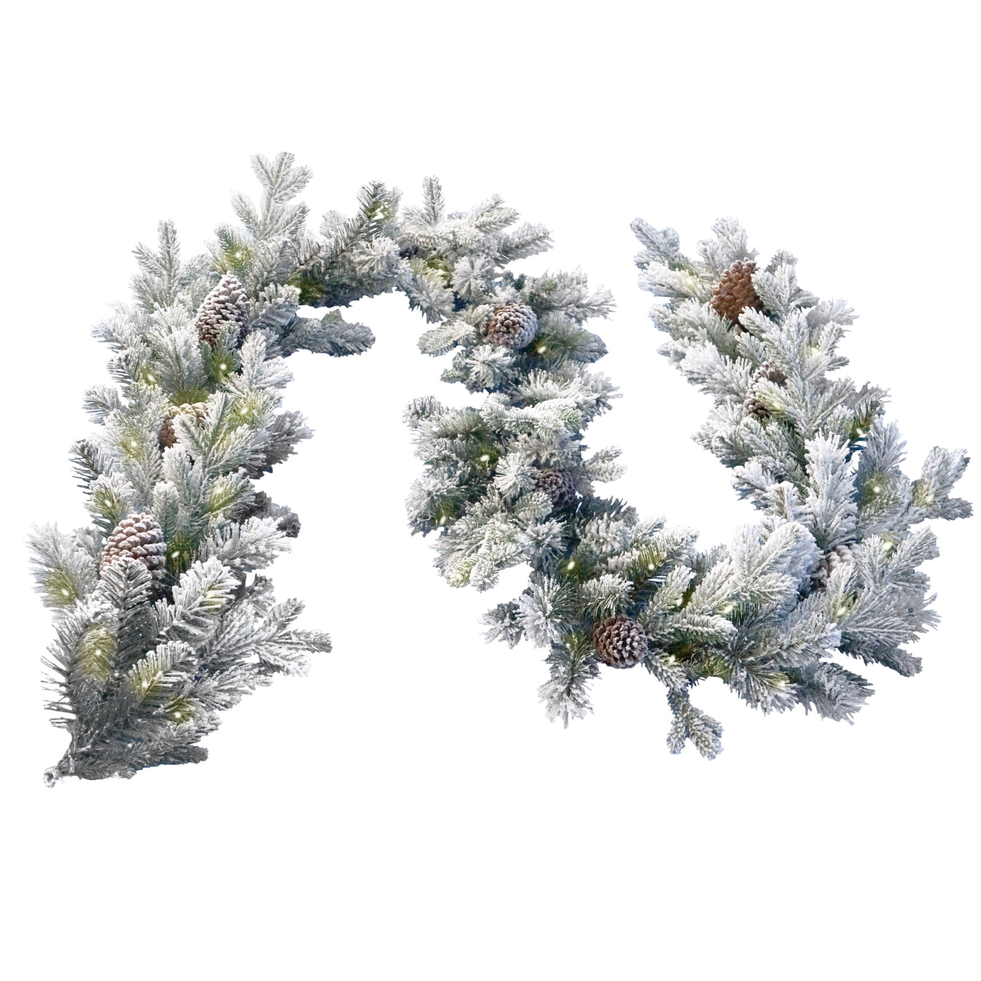 Snowy Dorchester Pine Christmas Garland - 9ft x 12in