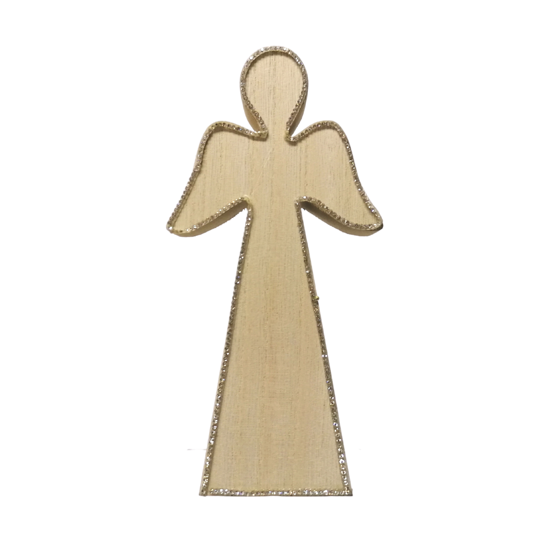 Wooden Christmas Angel - 10cm