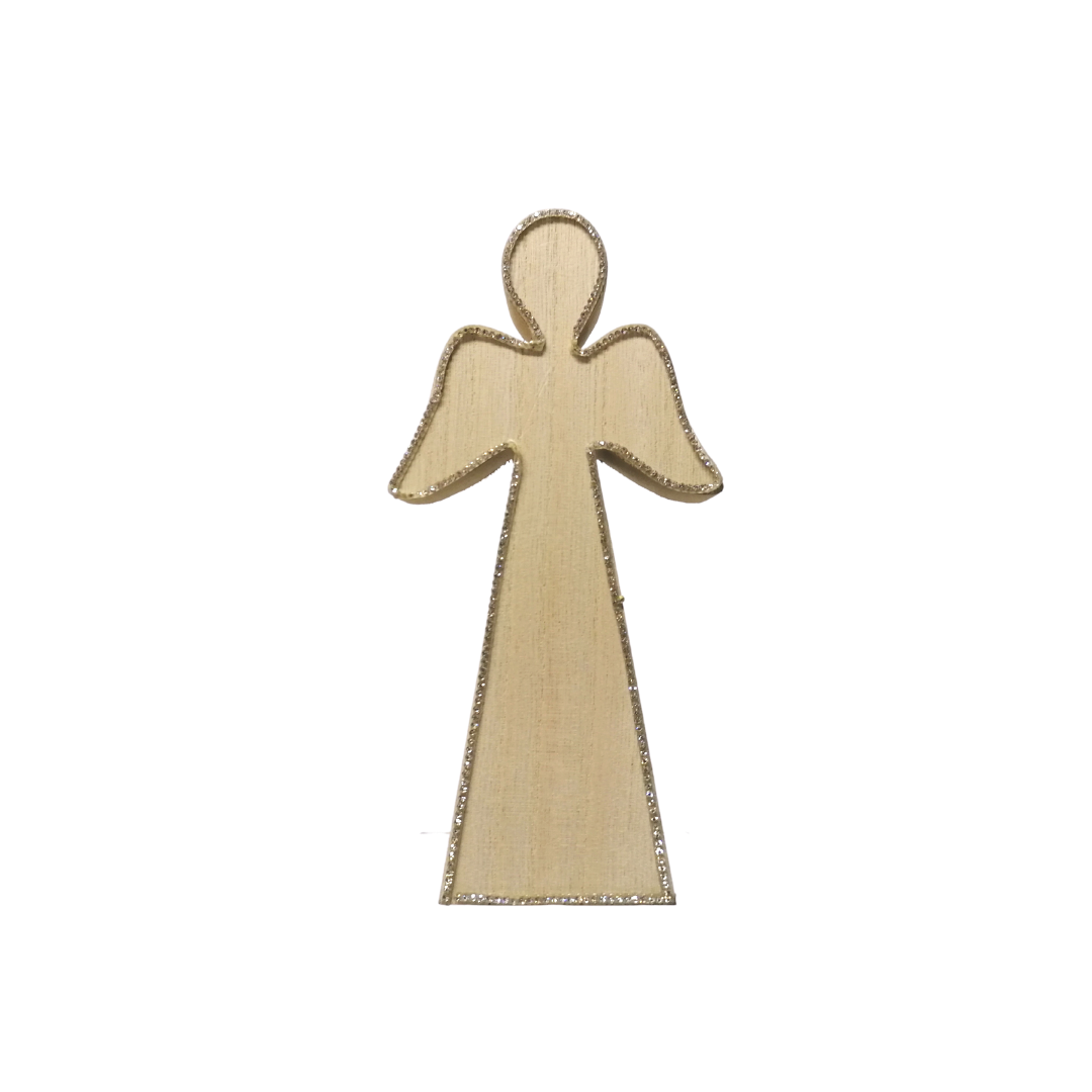 Wooden Christmas Angel - 7.5cm