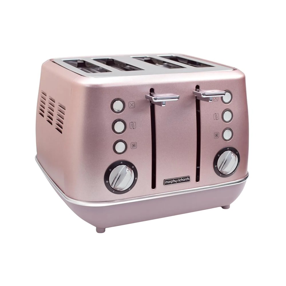 Morphy Richards Evoke 4 Slice Toaster - Special Edition Rose Quartz | 240117