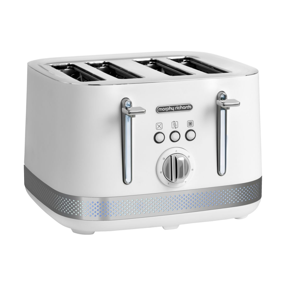 Morphy Richards Illumination 4 Slice Toaster - White | 248021